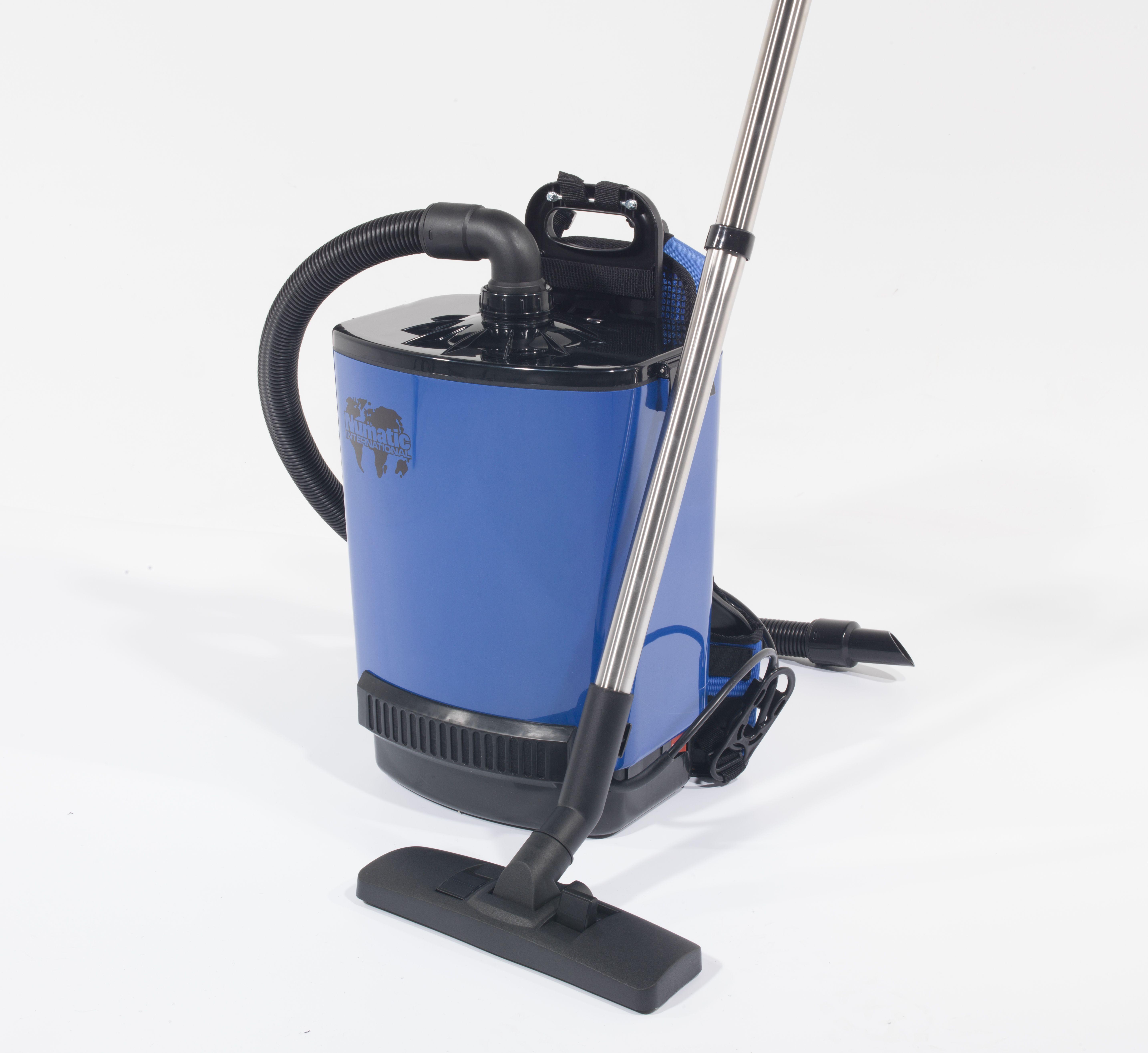 Rugstofzuiger RSV200-11 blauw met kit AS30